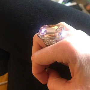 Ann Taylor Jewelry - Ann Taylor Diamond Crystal Cocktail Ring 7